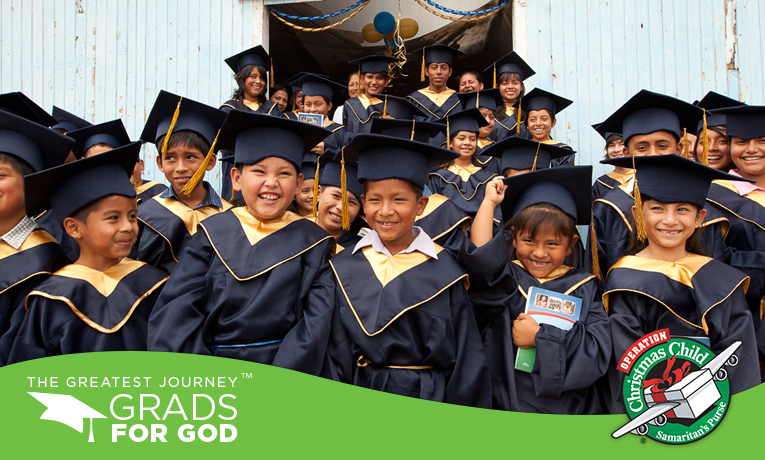 Children in Peru celebrate as they graduate from The Greatest Journey discipleship program.