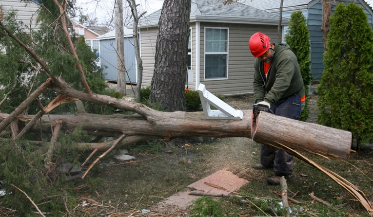 Samaritan's Purse volunteers help homeowners affected by Superstorm Sandy