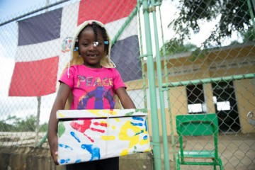 Brenda Valdez, a 5-year-old girl in the Dominican Republic, received the symbolic 100 millionth shoebox gift last year. Operation Christmas Child hopes to reach millions more children with boxes collected this year.