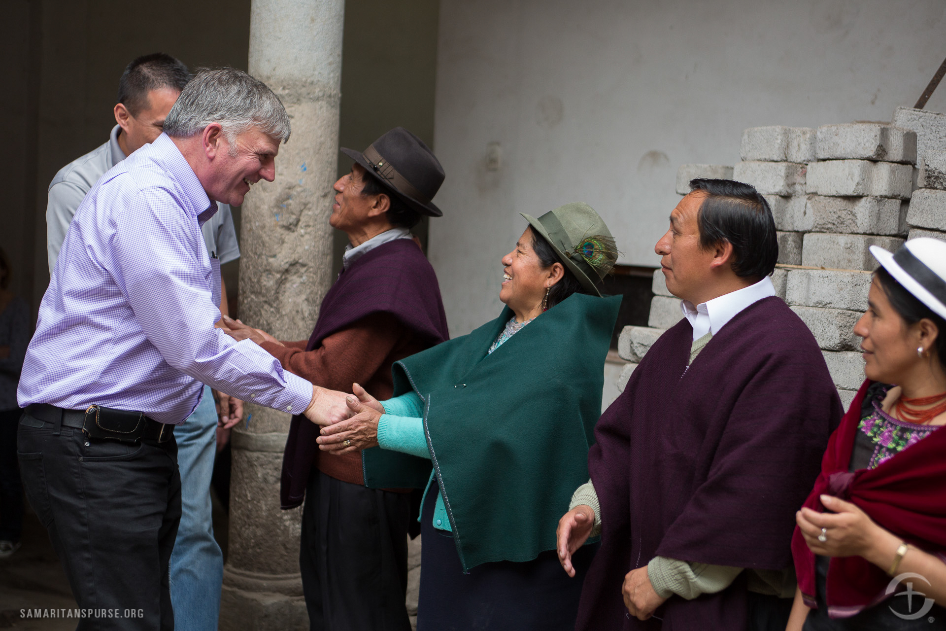 Samaritan's Purse President Franklin Graham meets members of the Operation Christmas Child national leadership team. The shoe box gifts open doors for Samaritan's Purse ministry partners to present the Gospel to children and their families.