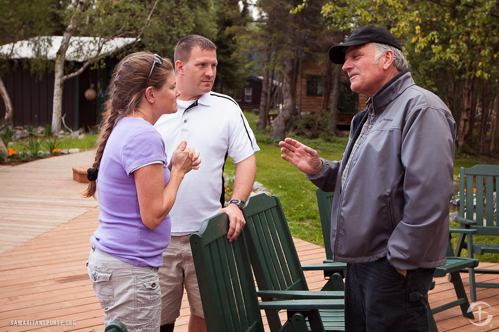 Samaritan's Purse President Franklin Graham has spent much of his time this summer at Samaritan Lodge Alaska, encouraging and ministering to the couples.
