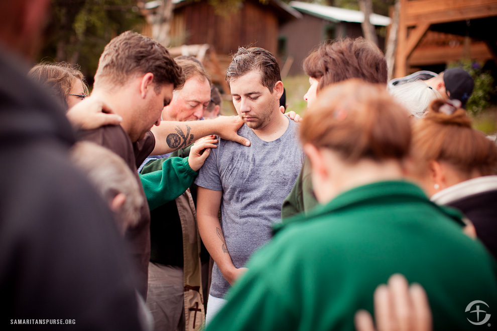 Lodge staff and some of the other couples prayed for Shawn after agreeing to support him on his journey of faith.