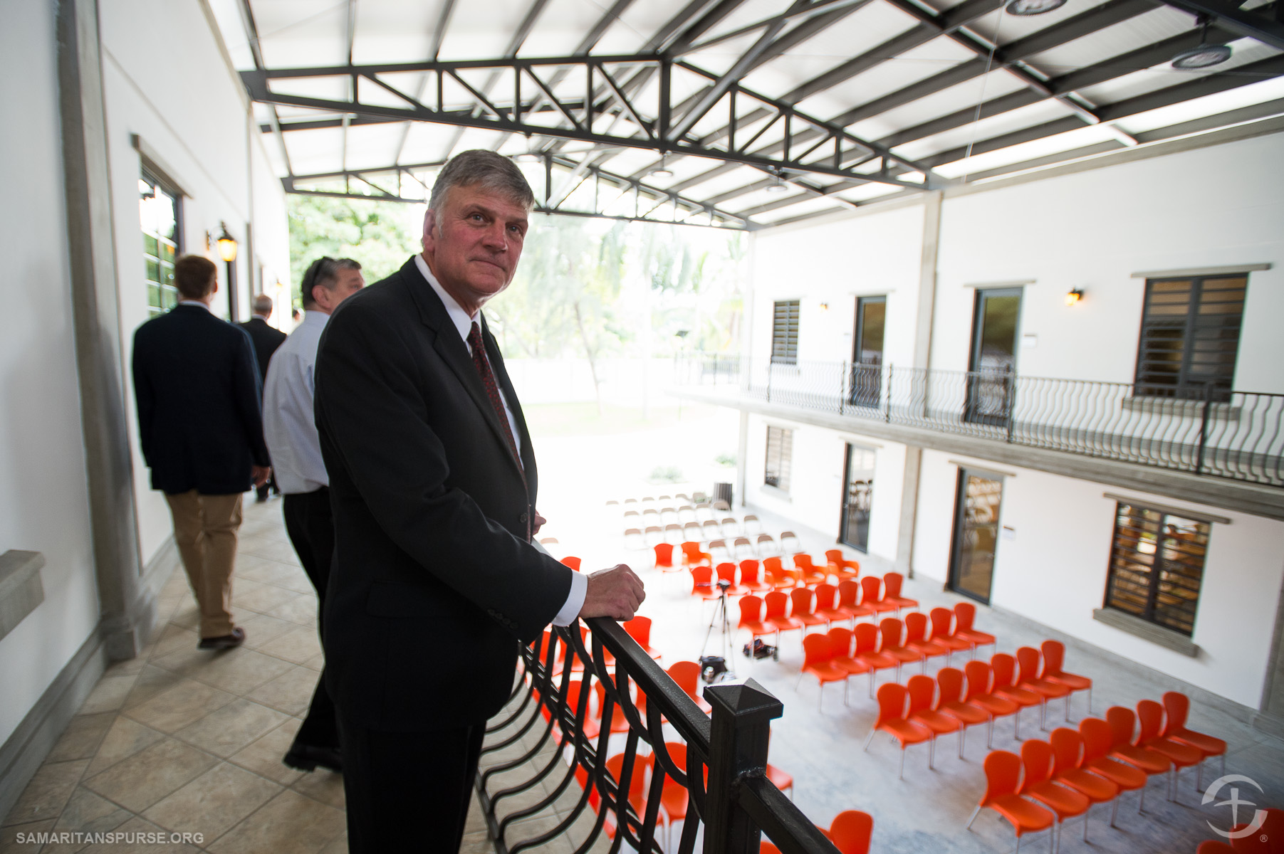 Franklin Graham toured the facility just before the dedication ceremony.