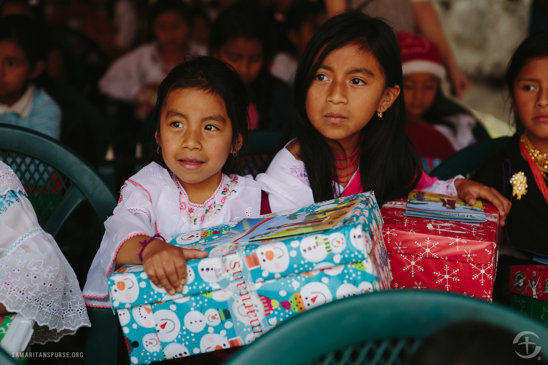 The shoe box gifts are often the only Christmas present the children receive.