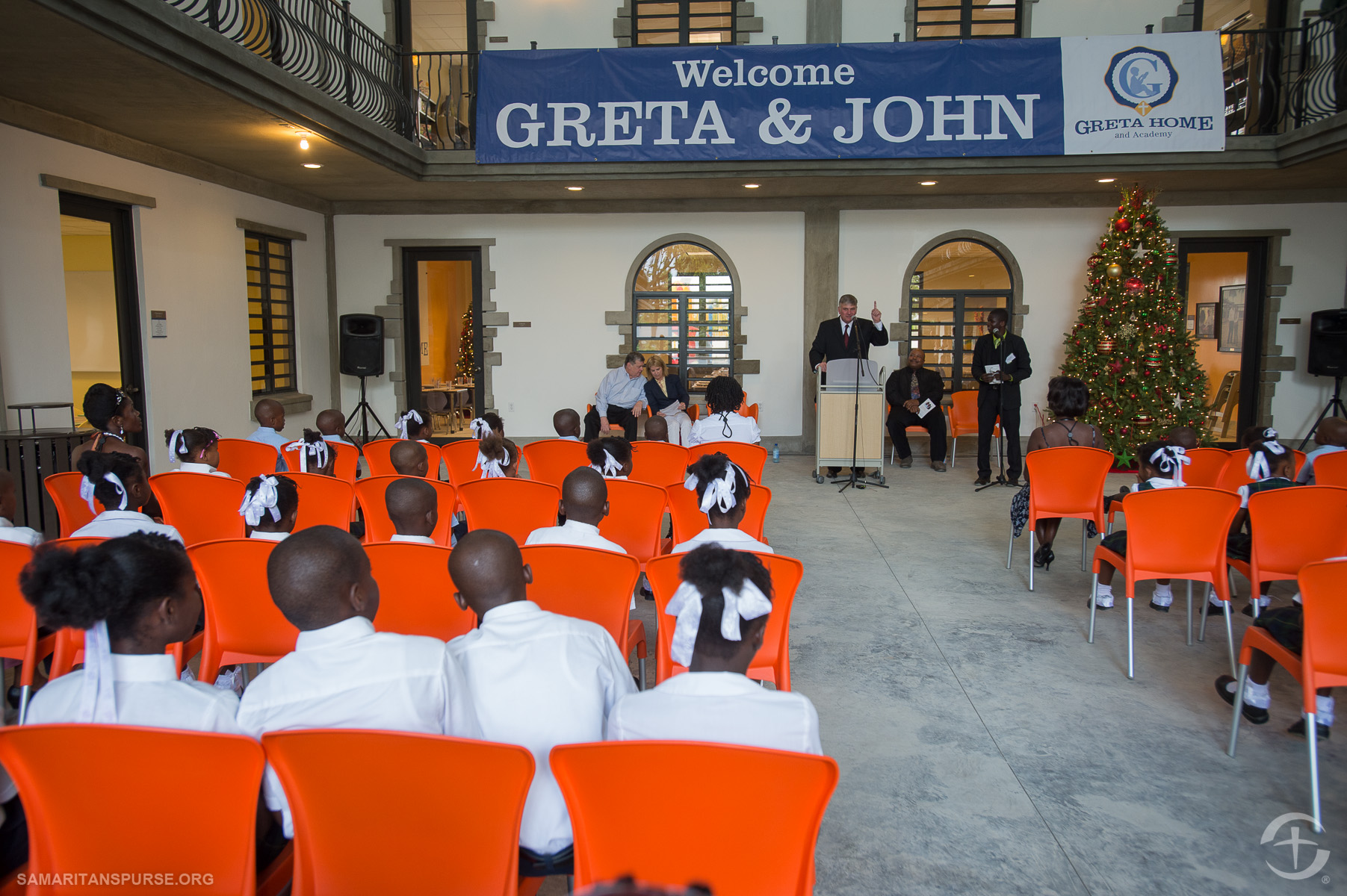 """Franklin Graham told the children, """"This is your new home. Remember God loves you."""""""