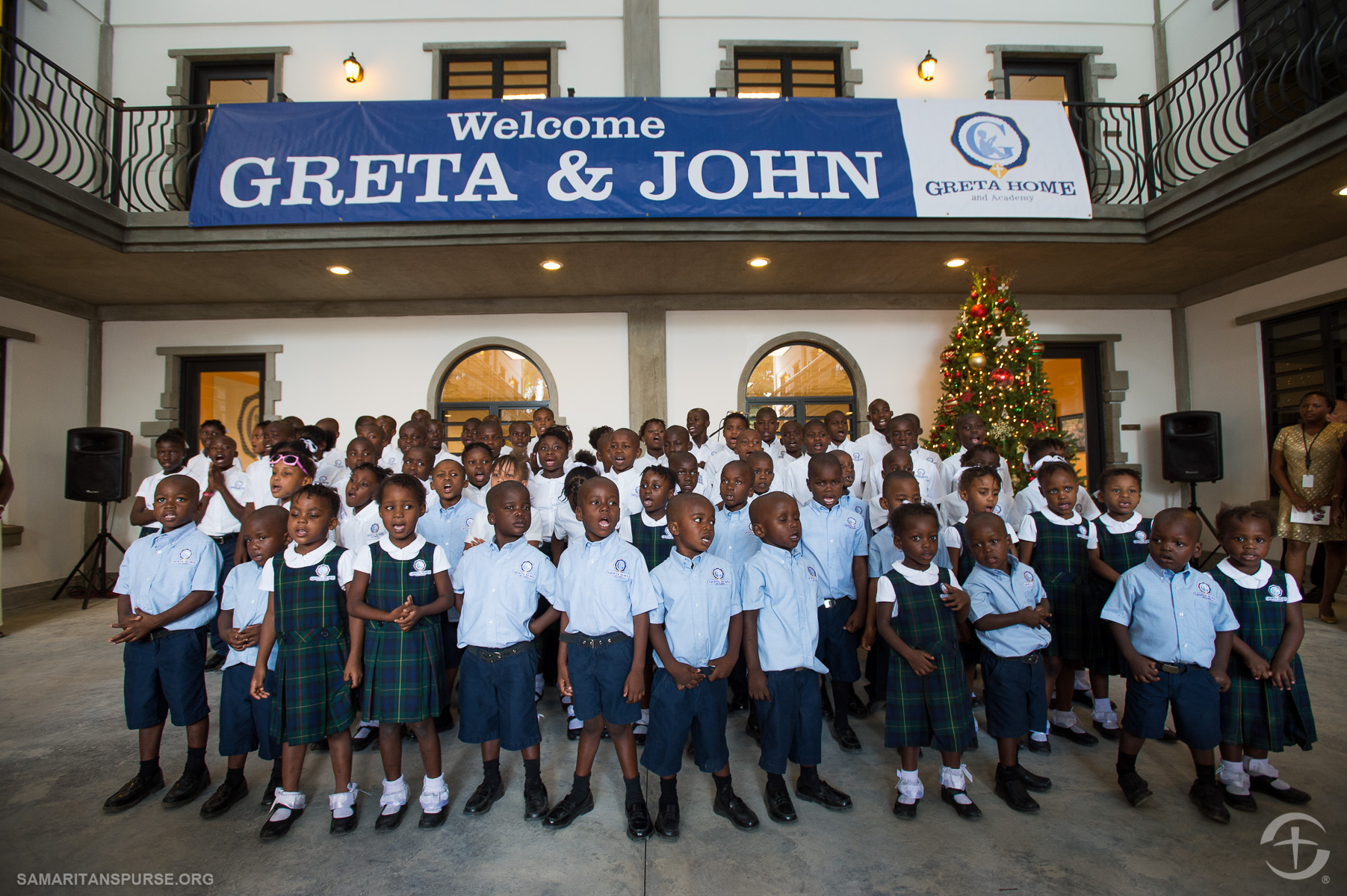 "Children of the Greta Home and Academy sang two songs for the dedication. The first, in English, was ""Jesus Loves Me."" The second was a song of thanks to God in Creole."