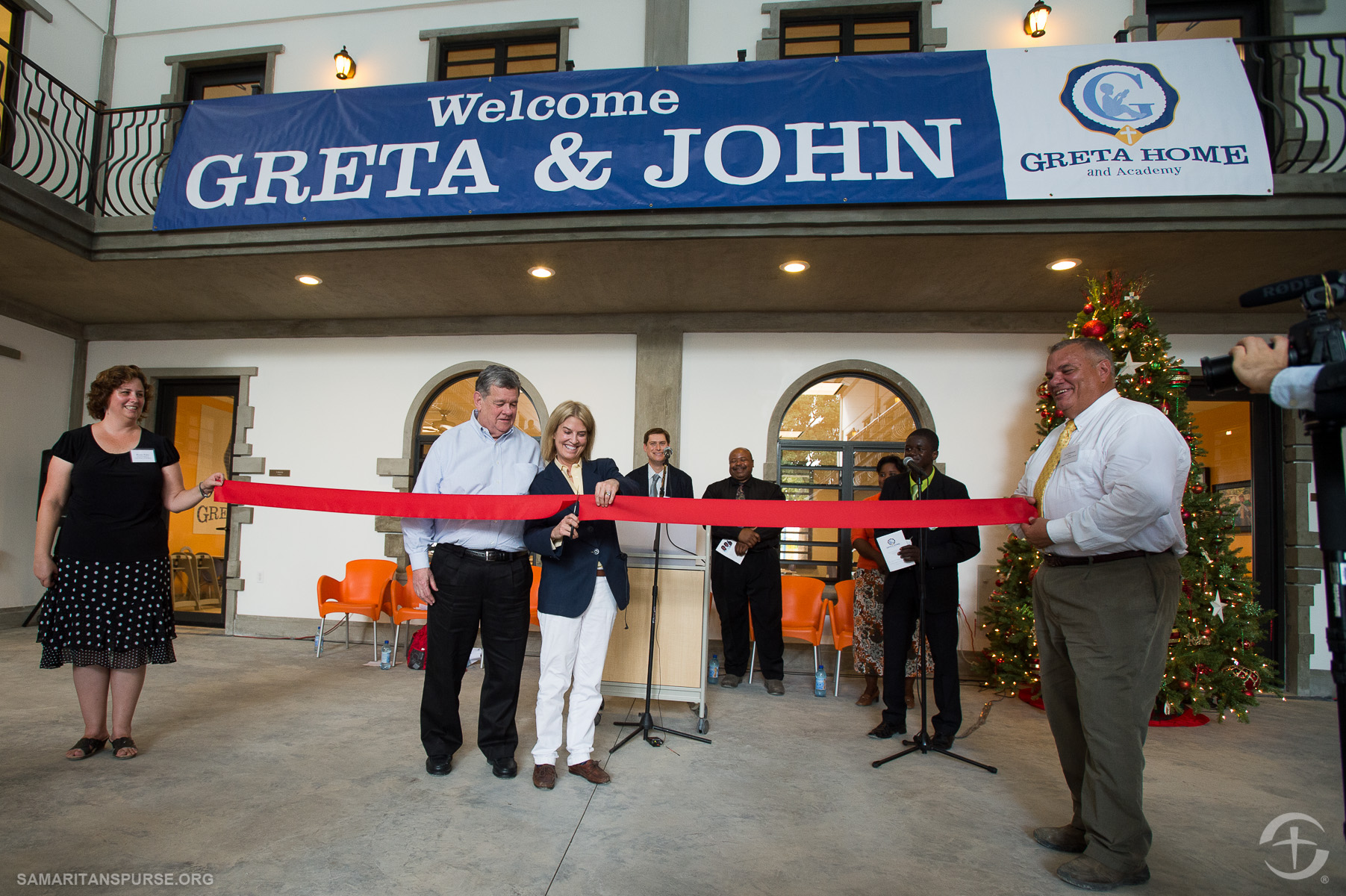Greta Van Susteren has been involved in many Samaritan's Purse projects, including the dedication of the Greta Home and Academy in Haiti.