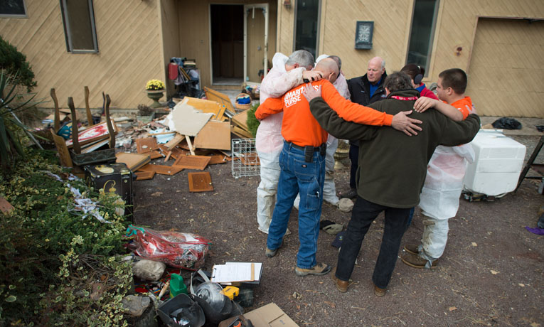 Samaritan's Purse volunteers impact Hurricane Sandy victims through a series of divine appointments.