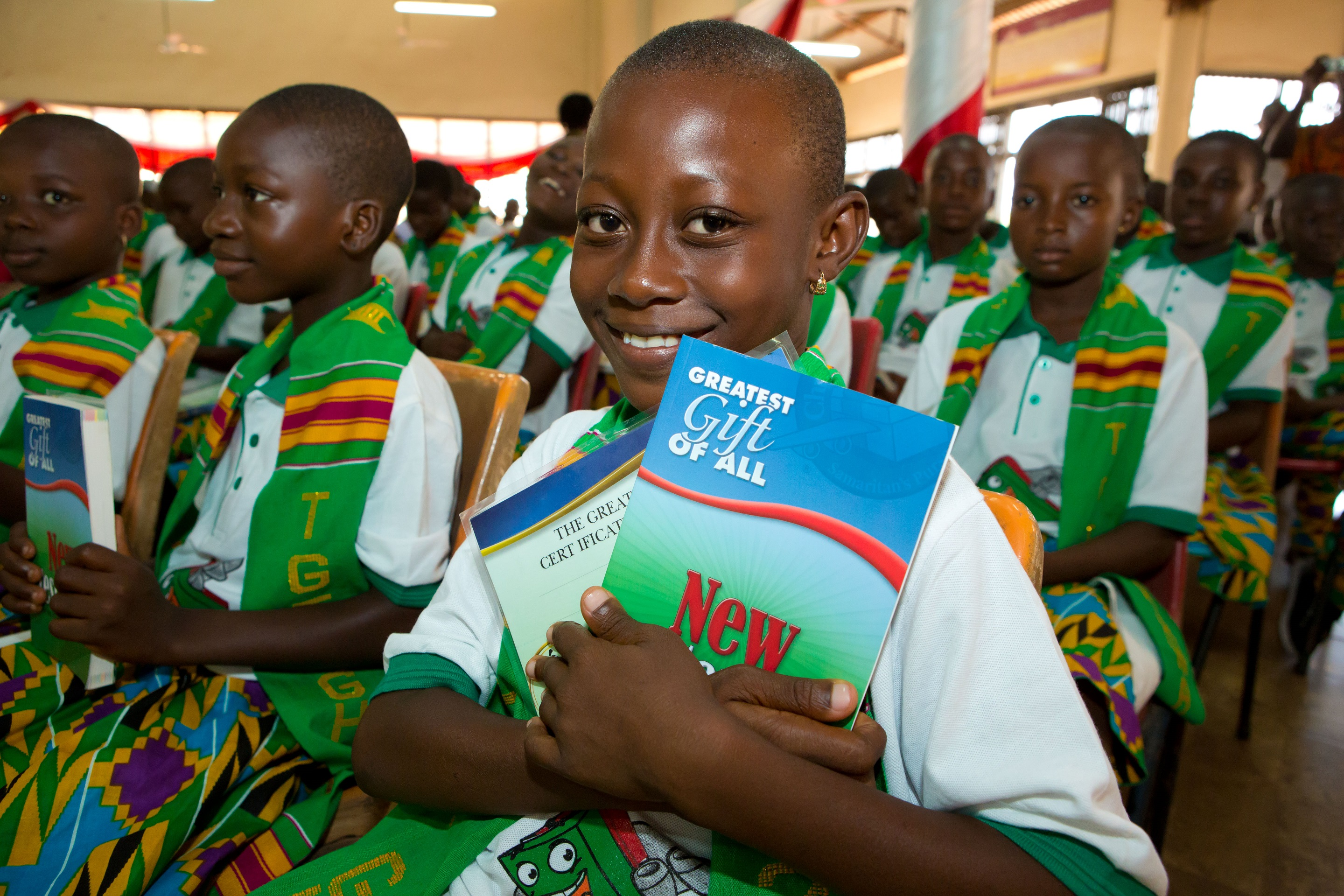 Children in Ghana go through The Greatest Journey after receiving their shoebox gifts