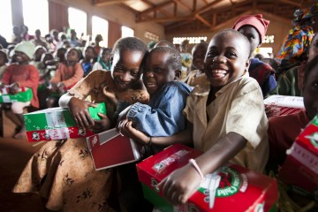 The hard work throughout the year pays off when children around the world experience Christmas joy.