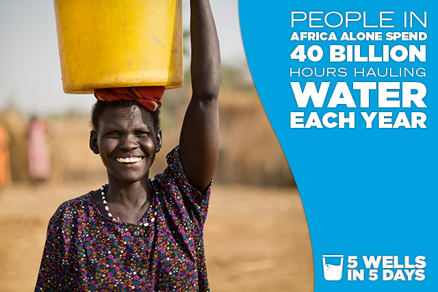 People in Africa alone spend 40 billion hours hauling water each year.