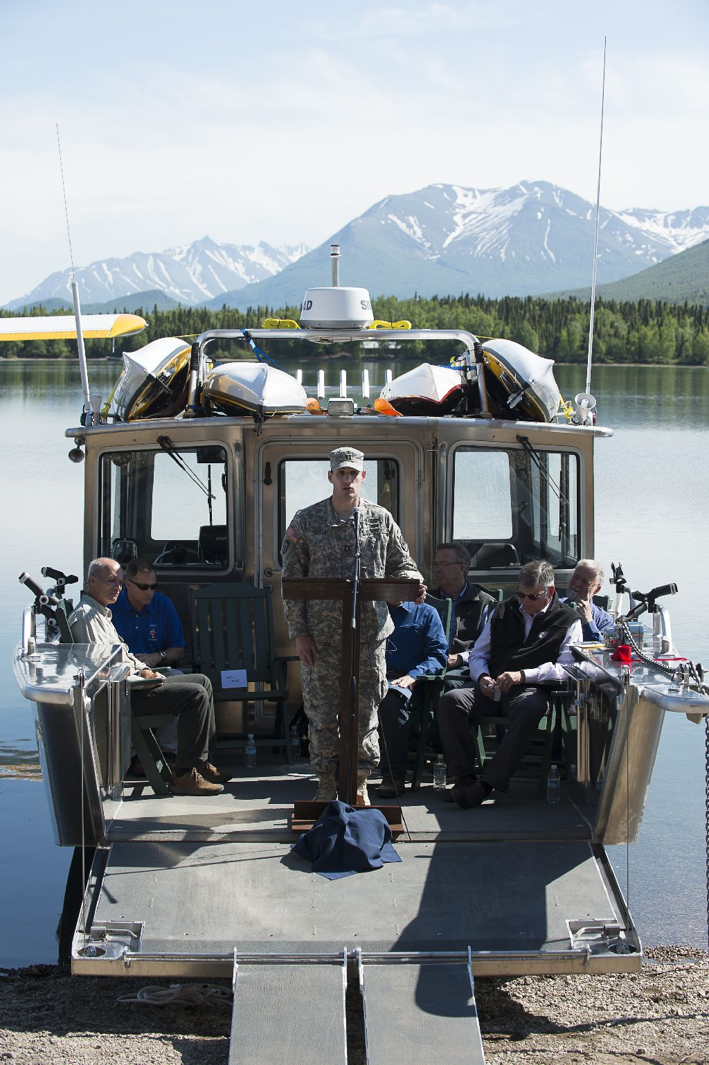 """Captain Smiley told those in attendance: """"Samaritan Lodge Alaska will help rebuild the relationships with family, help rebuild and start relationships with God."""""""