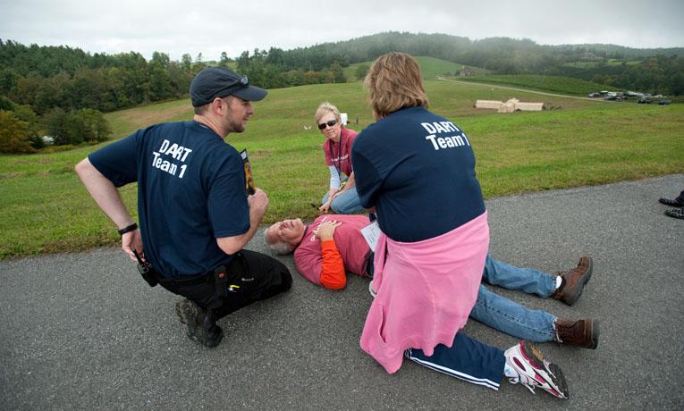 Disaster training simulation