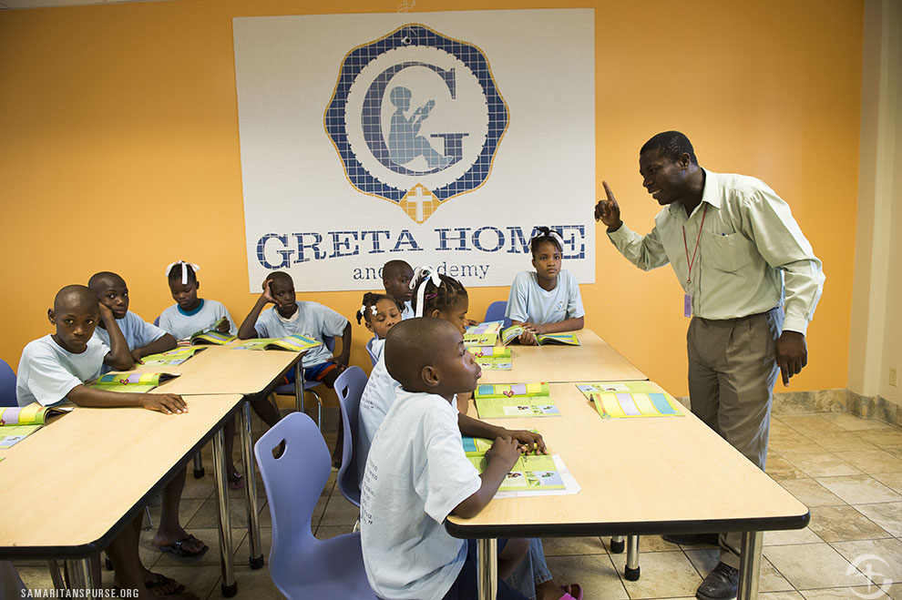 The Greatest Journey is taught to children at the Greta Home and Academy in Haiti.