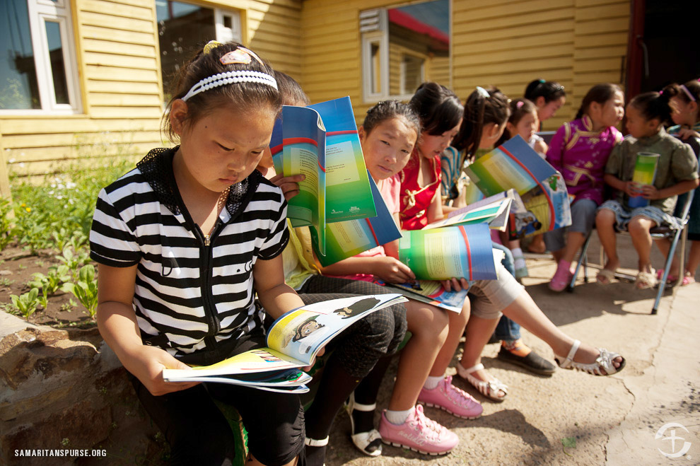 The Greatest Journey has been translated into more than 70 of the world's most common languages, which means we have the capability of reaching millions of children for Christ, like this class in Mongolia.