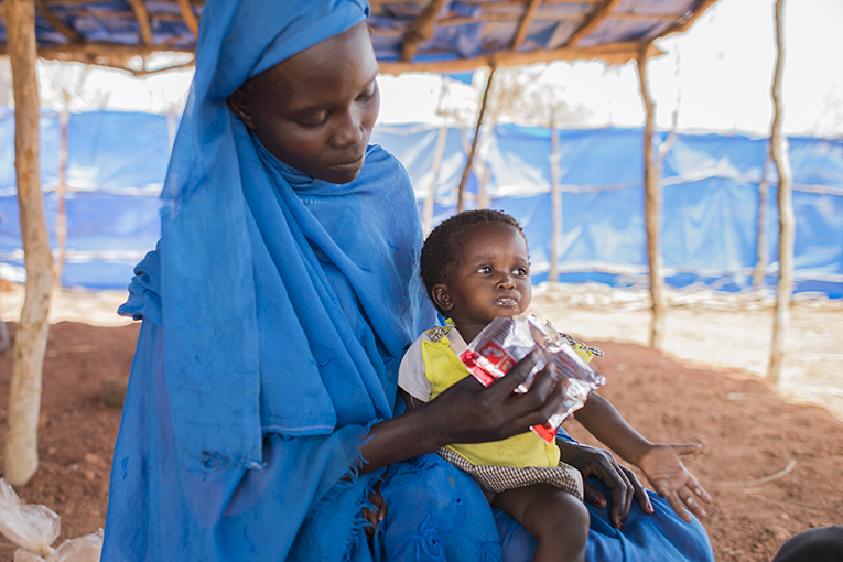 Ana Bashir arrived in Ajuong Thok with her severely malnourished daughter Hannah. Samaritan's Purse provides the medical care and nutritional supplements Hannah and other starving children need to recover.