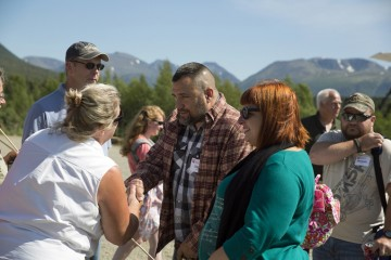 Todd and Tara were greeted warmly upon arrival in Port Alsworth, site of Samaritan Lodge Alaska.