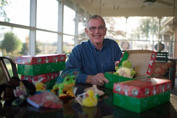 Shoeboxes with Clyde's toys have been delivered to at least 70 countries.