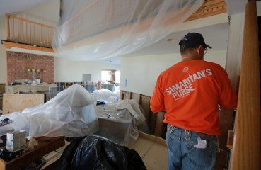 700 volunteers have come from all over the country to restore homes in New York and New Jersey.