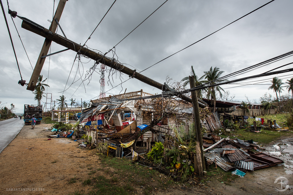 Some reports indicated that the storm hit the Eastern Samar Province and the northern tip of Cebu Province with sustained winds of 195 miles per hour and gusts up to 235 miles per hour. The force of this super typhoon destroyed many homes displacing at least 580,000 people and killing more than 2,000.