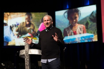 Louie Giglio shared a message with Operation Christmas Child volunteers from around the world at a conference in April.