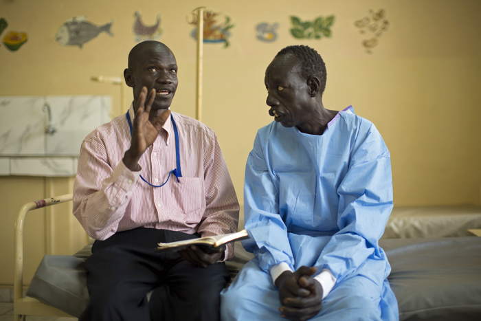 Samaritan's Purse partnered with a group of local pastors who shared the Gospel with patients. Here, Pastor Robert Nathana explains what it means to follow Jesus Christ.