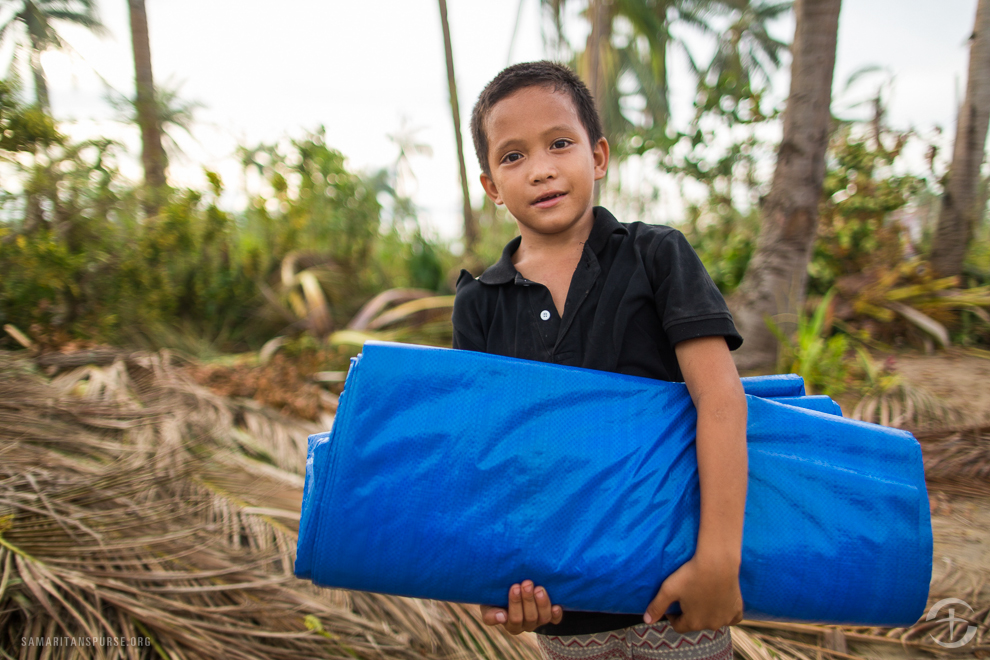 The gift of a tarp to a disaster victim can be the difference between a safe place to sleep and a cold, damp night.