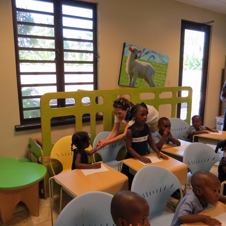 The children at the home were thrilled to meet a U.S. Representative.