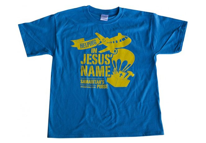 Helping in Jesus' Name Youth Tshirt