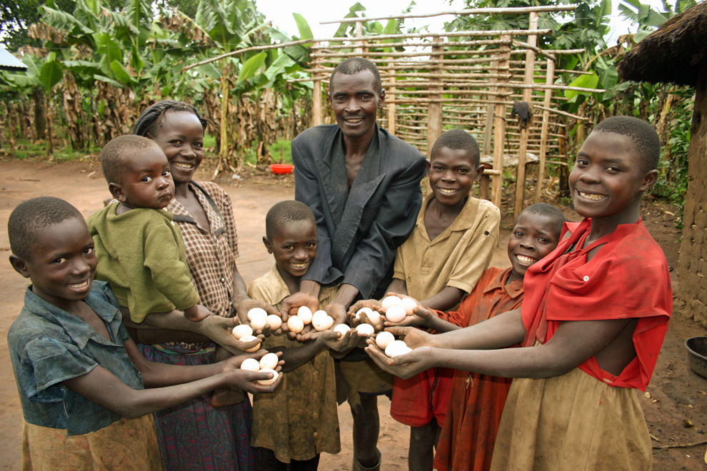 This Ugandan family's life was changed after receiving the gift of laying hens.