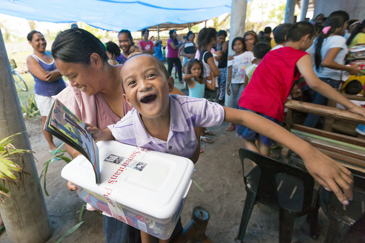 5-year-old Fergus is one of 65,000 children in the Philippines who will receive an Operation Christmas Child shoebox gift just before Christmas.
