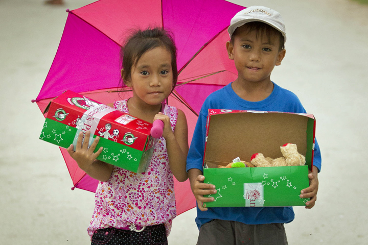 It's been more than a month since the typhoon slammed into the Philippines,  and still much of Bantayan Island is without electricity. These simple gifts are a way for children to forget—even for just a moment—the difficult challenges that surround them.