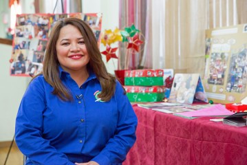 Rowena Gaspar is thrilled that boxes packed by her predominantly Filipino church will bring joy to children suffering after Typhoon Haiyan.