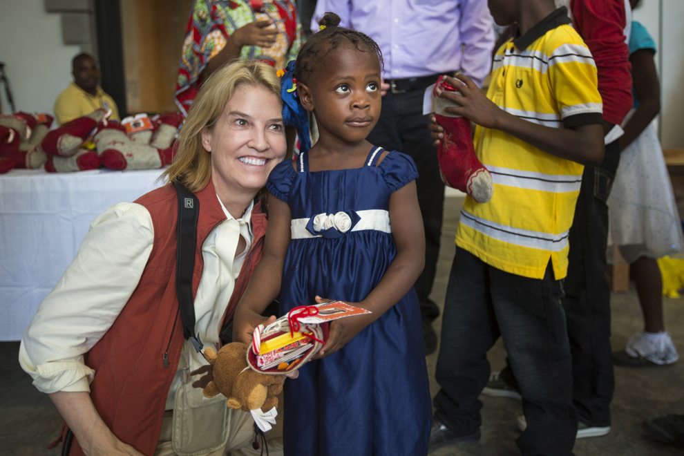 Greta Van Susteren provided the gifts for the boys and girls at the home.