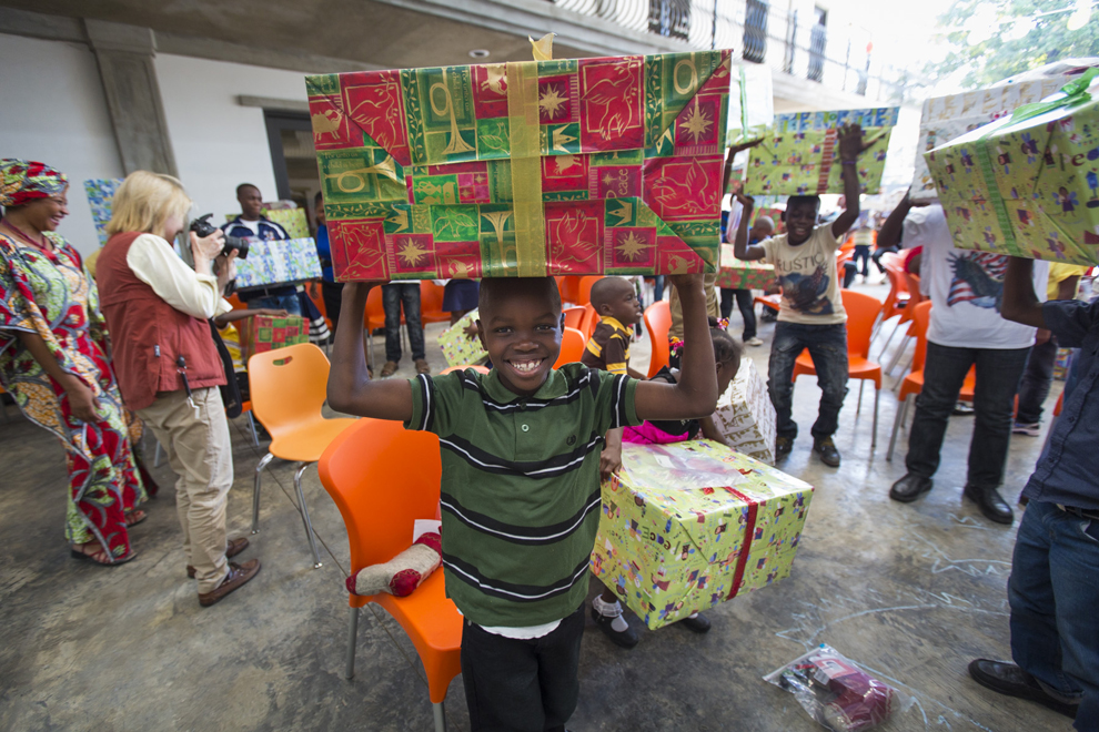 Greta-home-Christmas-boy-present