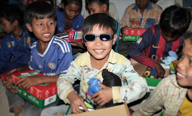 Operation Christmas Child Distribution in Cambodia