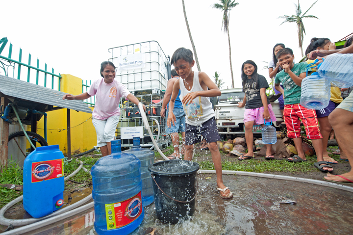 Residents in Dulag enjoy fresh, clean water.