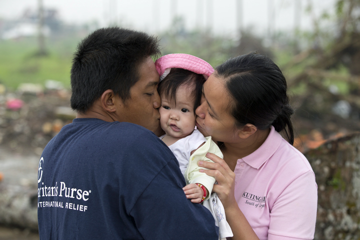 God brought Jun, his wife, and their 4-month-old baby girl through the storm.