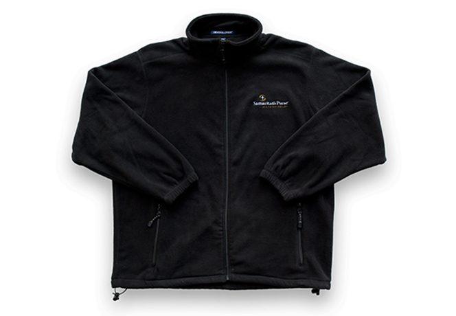 disaster relief black fleece jacket
