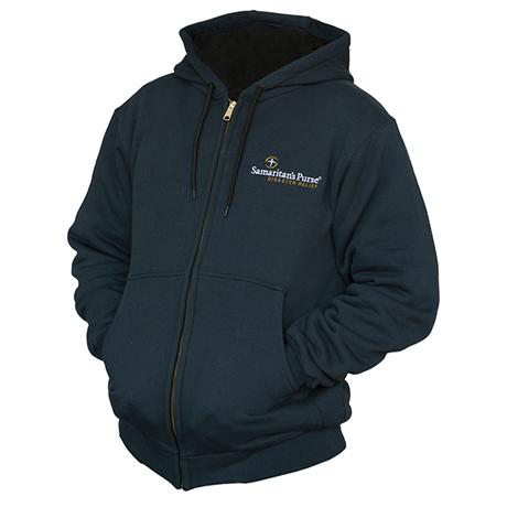 Disaster Relief Blue Hooded Zip-Up Sweatshirt