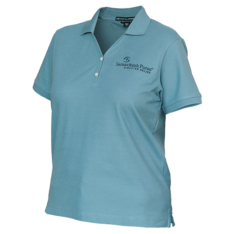Disaster Relief Womens Blue Polo
