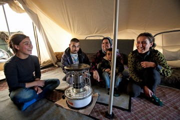 Heyat's family received one of the 2,000 heaters provided by Samaritan's Purse.