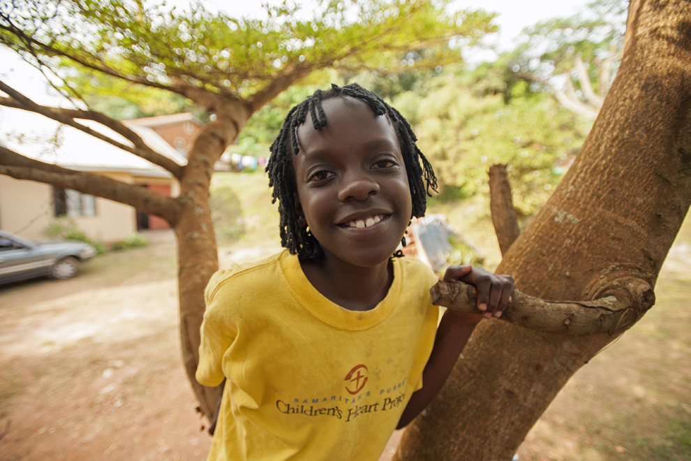At 7 years old, Jemimah received life-saving surgery in the United States. The now 13-year-old can ride her bicycle and even climb trees, things she was never able to do when she suffered from her heart defect.