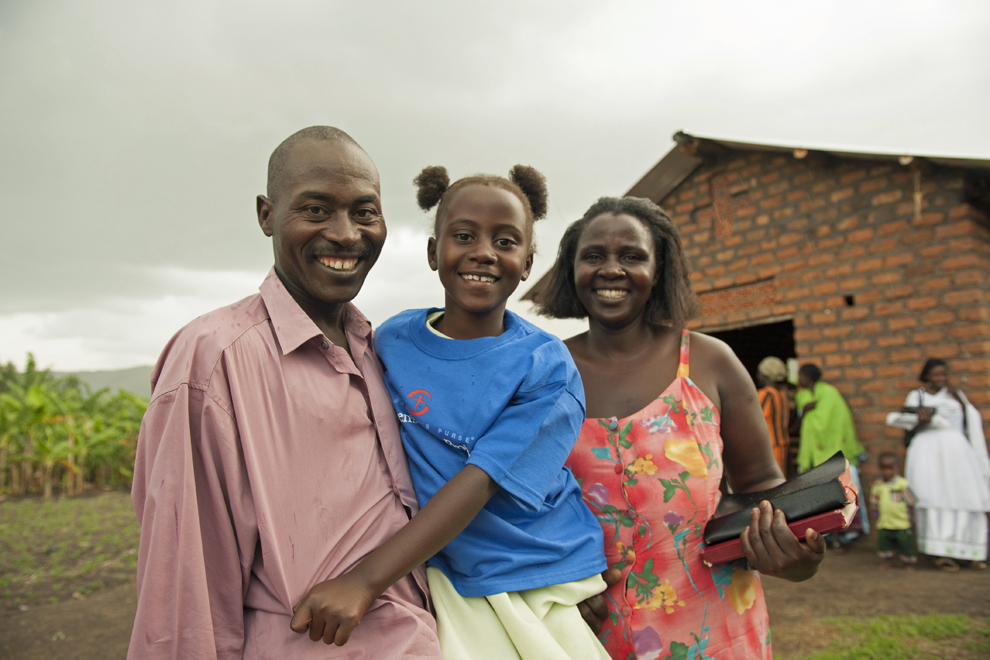 Catherine returned home to Uganda with a healthy heart after her surgery in 2009.
