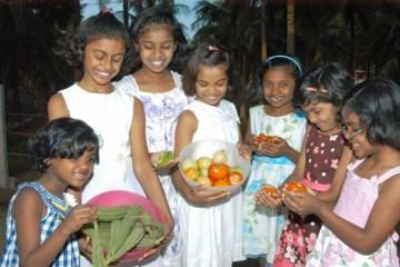 Support from Samaritan's Purse helps the home grow nutritious food on their campus in south India.