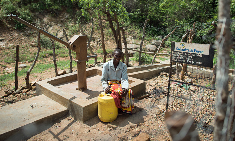 Muene Kioko knows that the well and hand pump are a gift from God.