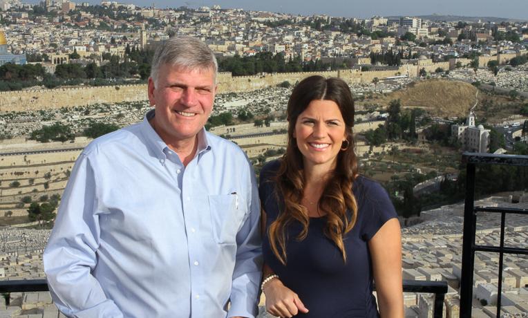 Franklin Graham & Cissie Graham Lynch in Israel.