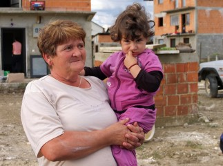 Stoja and her granddaughter, Nevena, are among the 130,000 people impacted by the disaster.