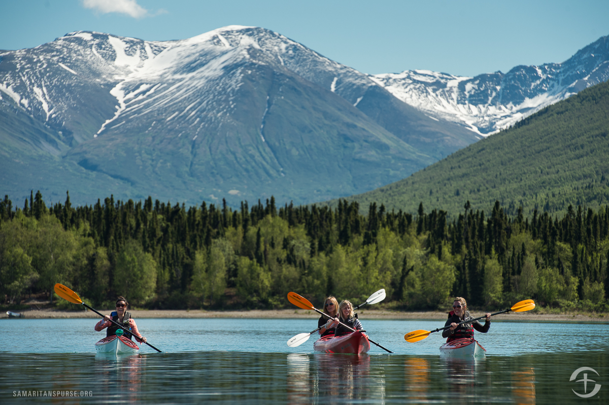 Some of the wives also took time to go kayaking on their own and returned all smiles.