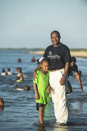 Pastor Pierre helped baptize 39 children from the Greta Home and Academy last year.